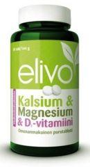 ELIVO KALSIUM-MAGNESIUM-D YHDISTELMÄVALMISTE X80 PURUTABL