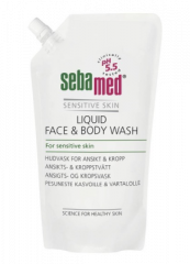 SEBAMED FACE&BODY WASH PESUNESTE TÄYTTÖP 1000 ML