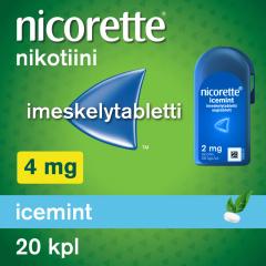 NICORETTE ICEMINT 4 mg imeskelytabl 20 kpl