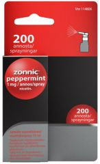 ZONNIC PEPPERMINT 1 mg/suihke sumute suuonteloon, liuos (15 ml)200 annosta